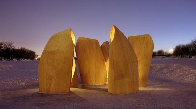Amazing Winter Project – Winnipeg Skating Shelters by Patkau Architects