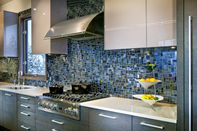 32 delightful backsplash design ideas for improvement of Contemporary kitchen tiles ideas