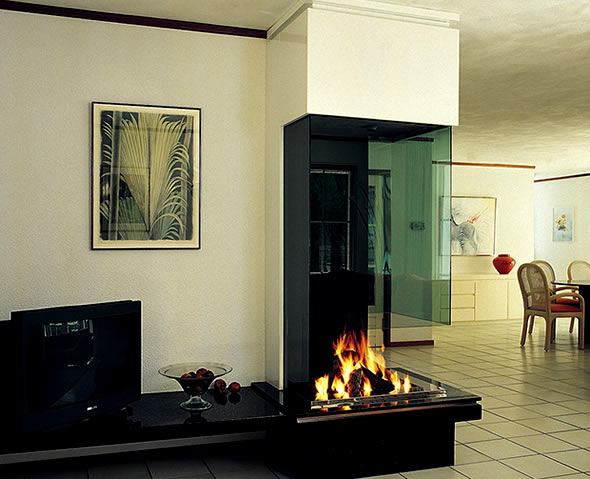 22 Ultra Modern Corner Fireplace Design Ideas