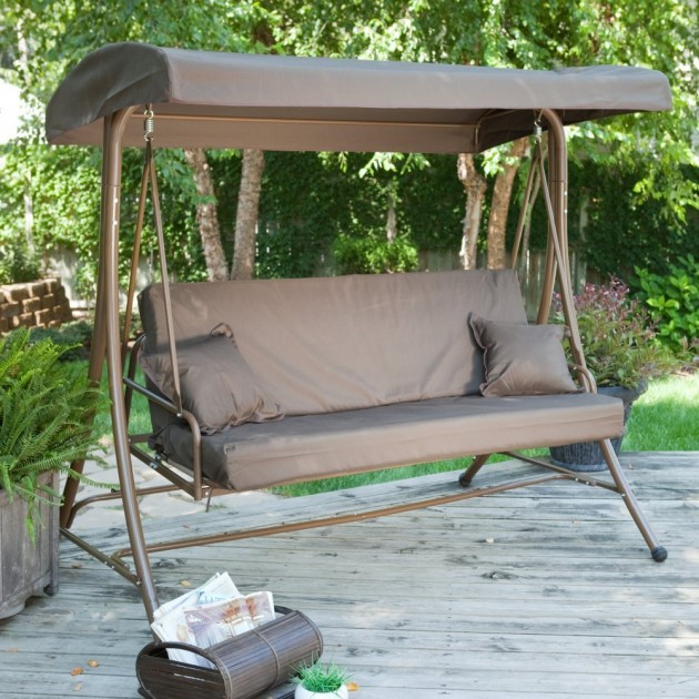 Siesta 3 Person Canopy Swing Bed. 16 Beautiful Outdoor Furniture Designs