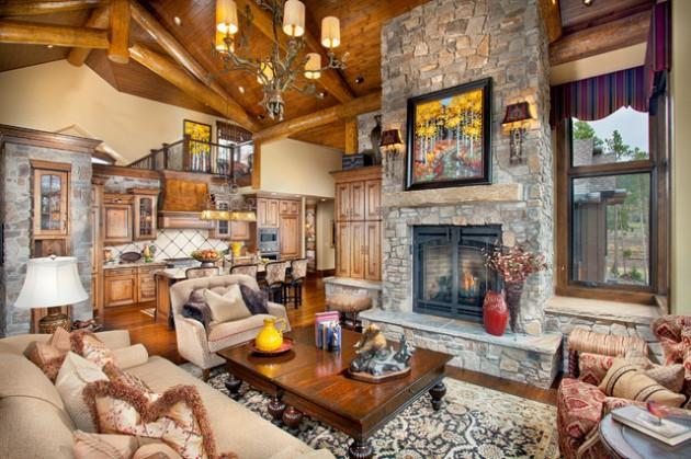 marvellous interior design living room fireplace | 24 Marvelous Fall Themed Interior Design Ideas