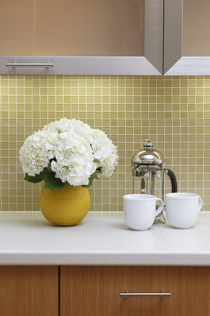 Yellow decoración Backsplash