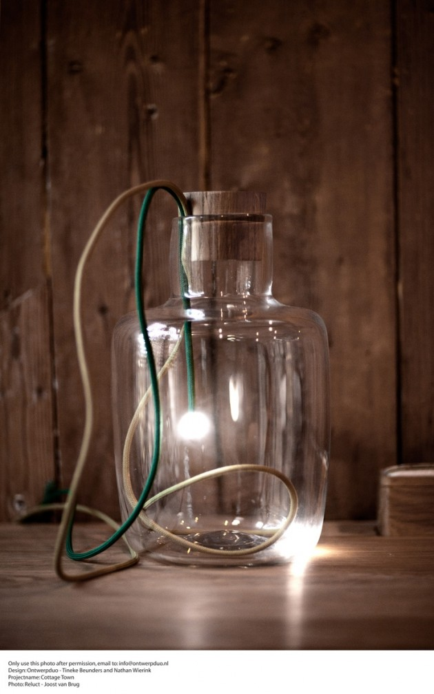 Beautiful Homemade Lamps : Amazing diy bottle lamp ideas