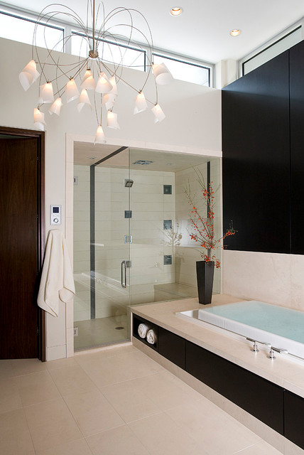 30 elegant black white colored bathroom design ideas