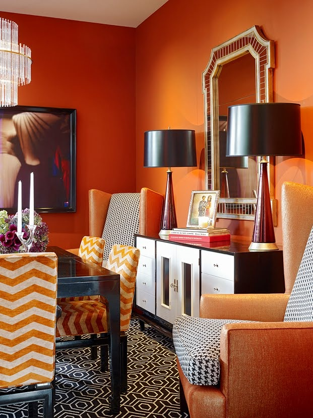 Home Interior Design Ideas: 25 Amazing Orange Interior Designs