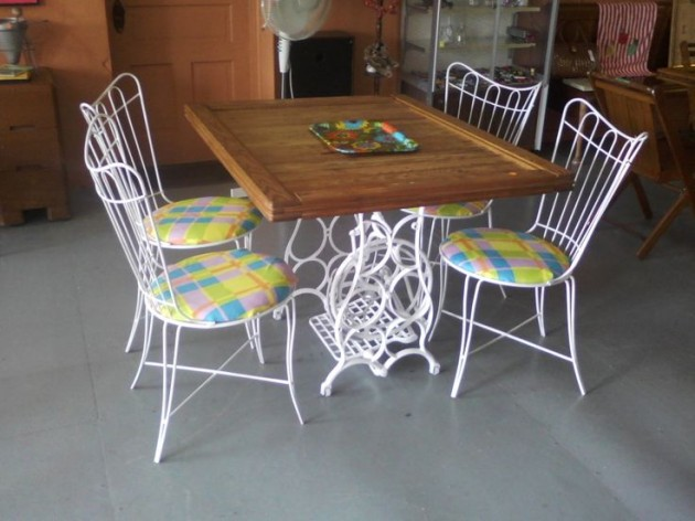 Singer Sewing Machine Repurposed Small Tables