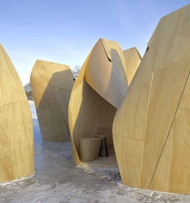 Amazing Winter Project   Winnipeg Skating Shelters by Patkau Architects