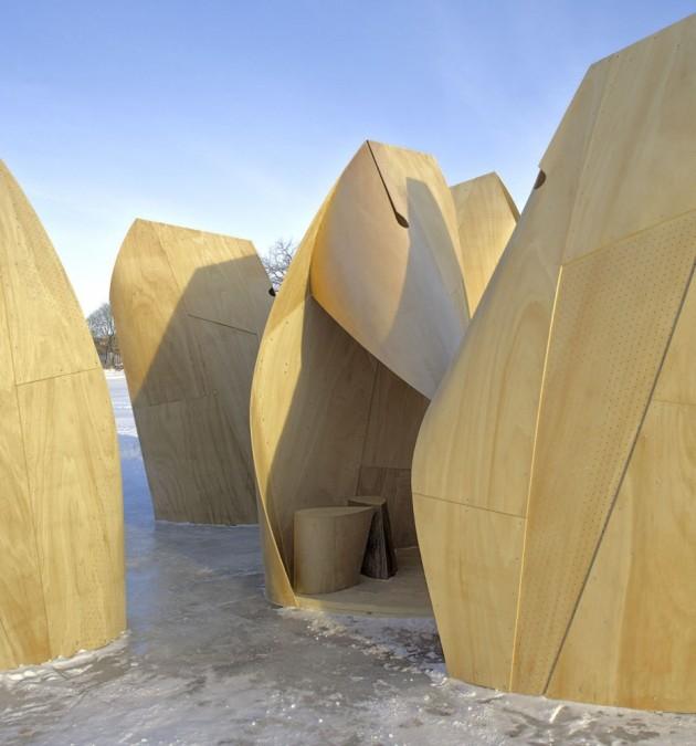 Amazing Winter Project - Winnipeg Skating Shelters by Patkau Architects