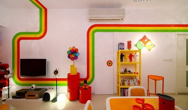 The Rainbow House-Delightful Masterpiece Designed by Moderne