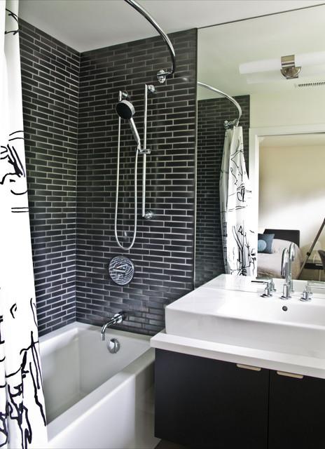 Elegant Black & White Colored Bathroom Design Ideas