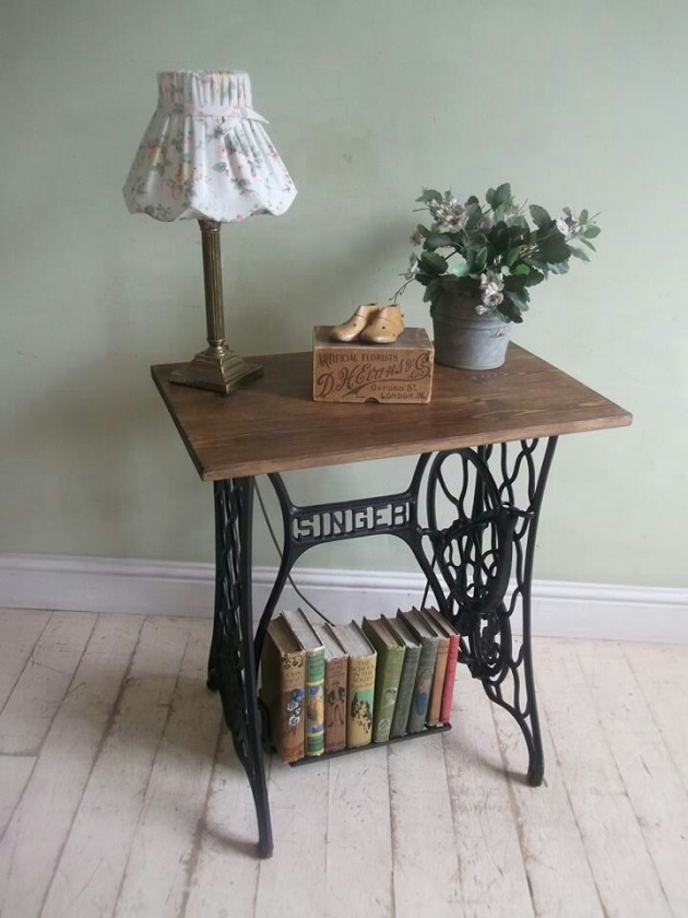 20 vintage repurposed sewing machines - Table machine a coudre singer ...