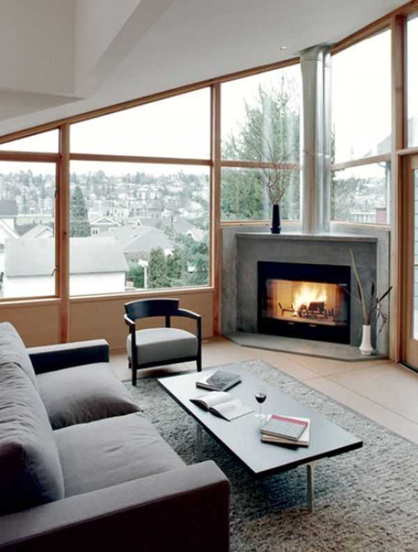 22 ultra modern corner fireplace design ideas - Modern Fireplace Design Ideas