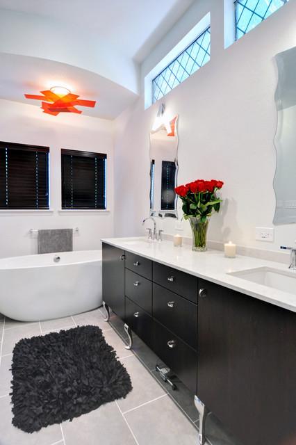 30 Elegant Black Amp White Colored Bathroom Design Ideas