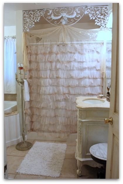 terrific shabby chic bathroom ideas | 30 Adorable Shabby Chic Bathroom Ideas