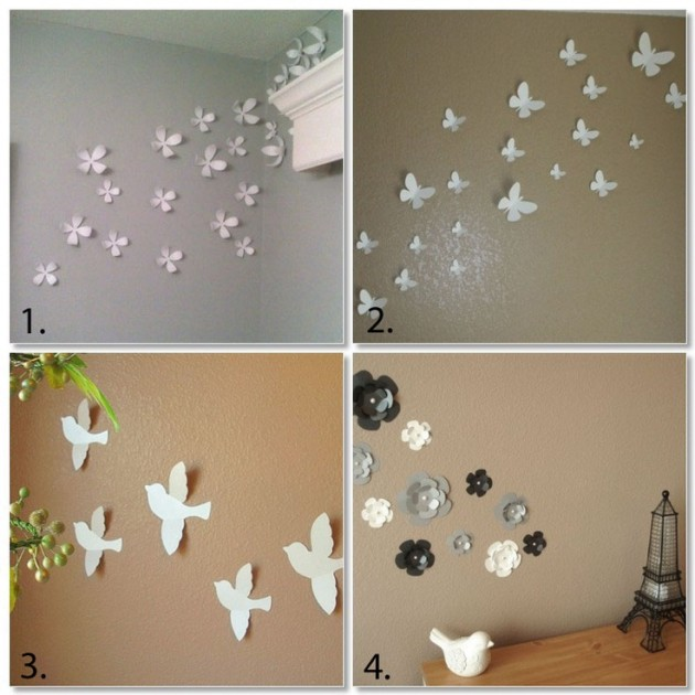 Decorate Living Room Ideas: 27 Amazing DIY 3D Wall Art Ideas