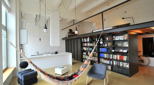 Sleek Loft Apartment in Former Radio Technics Factory in Vilnius, Lithuania