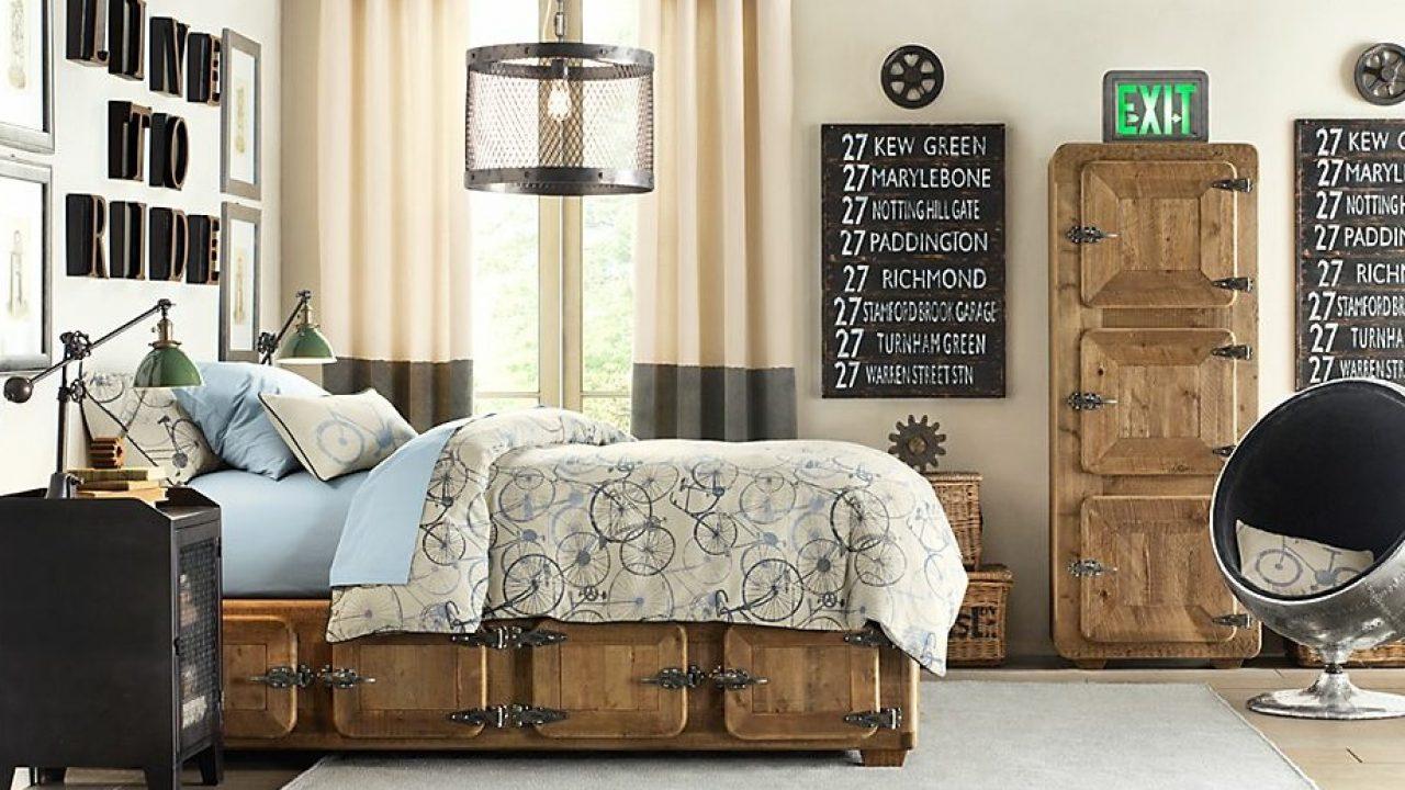 18 Very Cool Industrial Teen Room Design Ideas