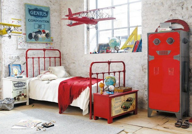 18 Very Cool Industrial Teen Room Design Ideas