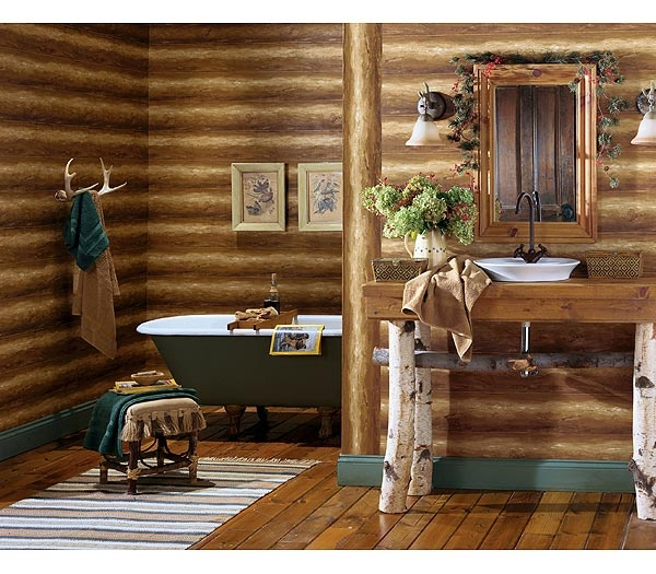 33 cute log cabin christmas decorations for Lodge decor