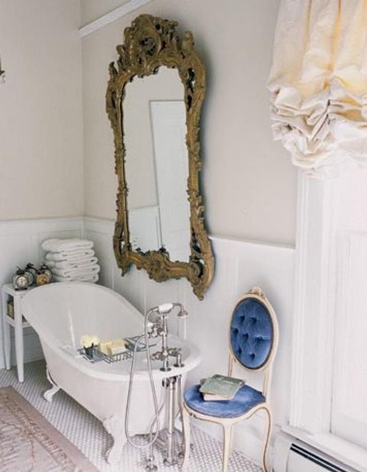 Дизайн ванной в стиле ретро