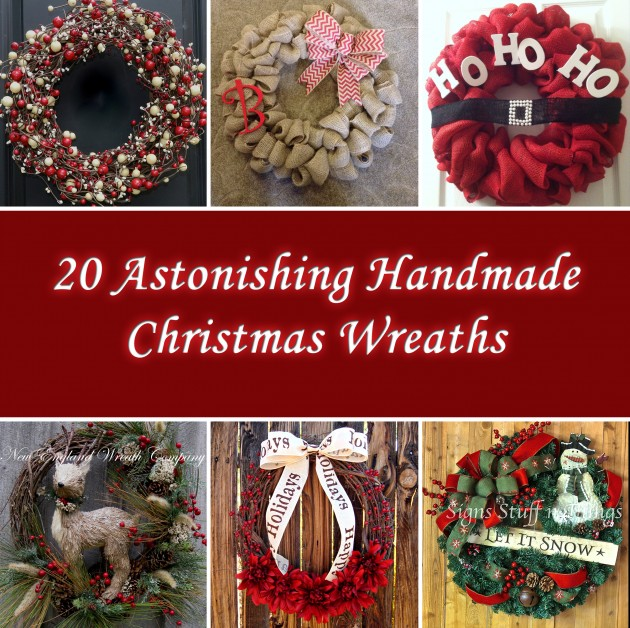 20 Astonishing Handmade Christmas Wreaths