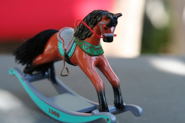 hallmark 1989 rocking horse christmas ornament
