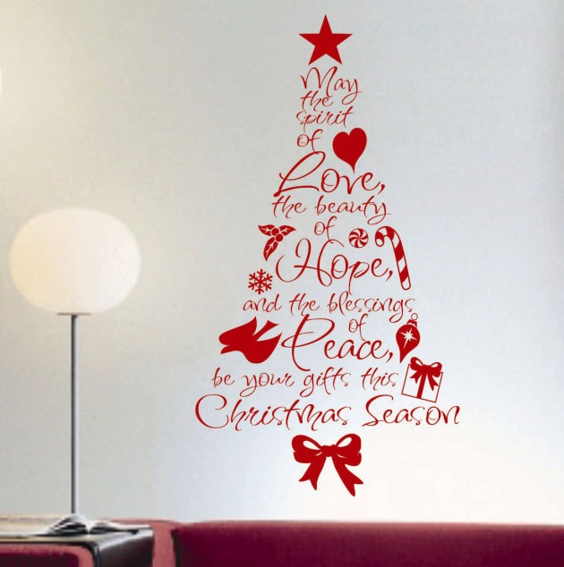 Creative christmas decorating ideas with decals