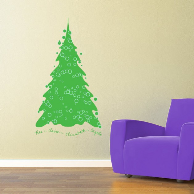 20 Creative Christmas Decorating Ideas with Decals ...
