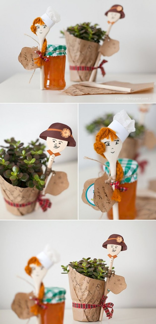 25 Creative DIY Wooden Spoons Crafts