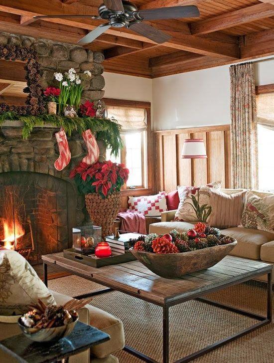 11 Cute Log Cabin Christmas Decorations