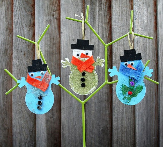 40 quick and cheap christmas craft ideas for kids for Inexpensive crafts for kids