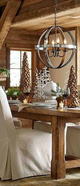 33 Cute Log Cabin Christmas Decorations