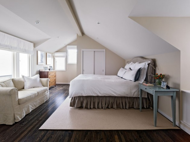 ceiling compartment ideas - 26 Brilliant Bedroom Designs Ideas with Sloped Ceiling