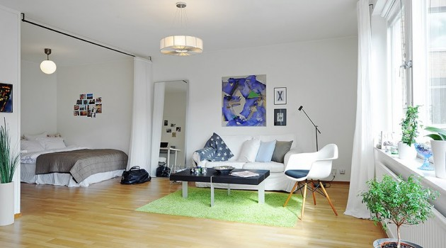 Adorable and Functional One-Room Apartment in Stockholm