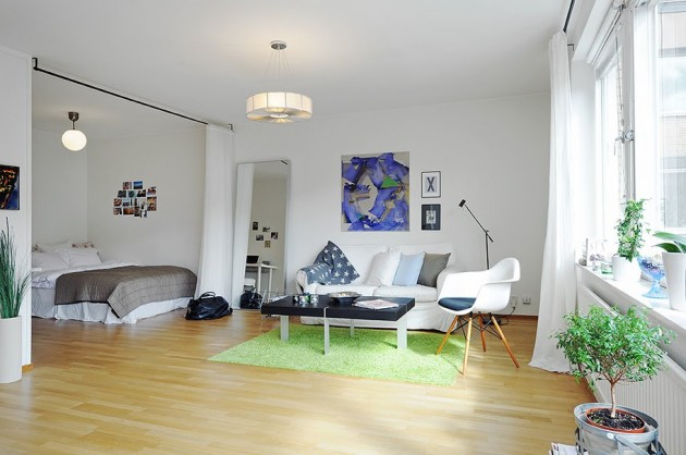 Adorable and Functional One Room Apartment in Stockholm