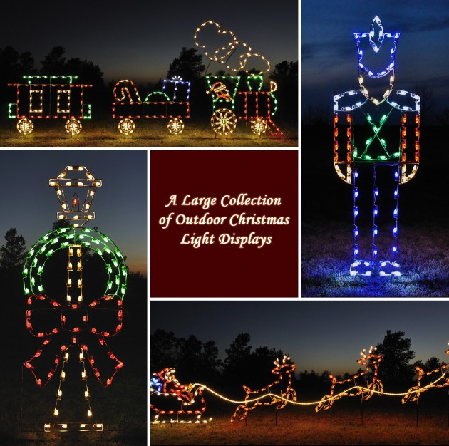 a large collection of outdoor christmas light displays 0 630x626jpg