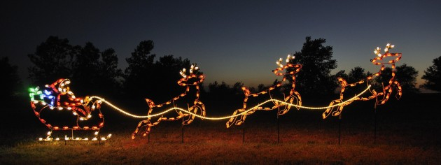 A Large Collection of Outdoor Christmas Light Displays