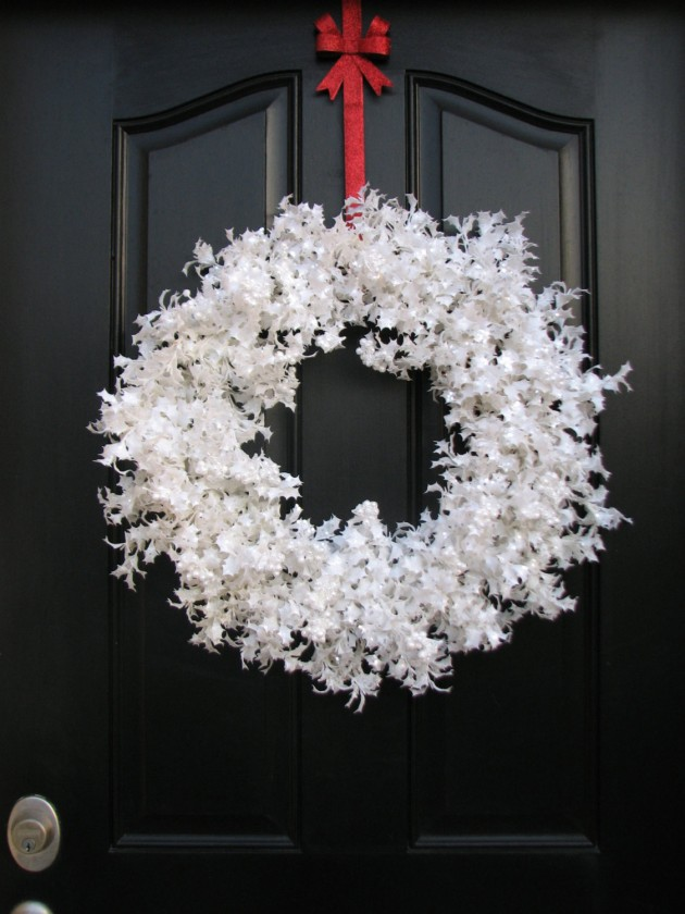 Enjoyable Another Great Collection Of 20 Beautiful Christmas Wreaths Door Handles Collection Olytizonderlifede