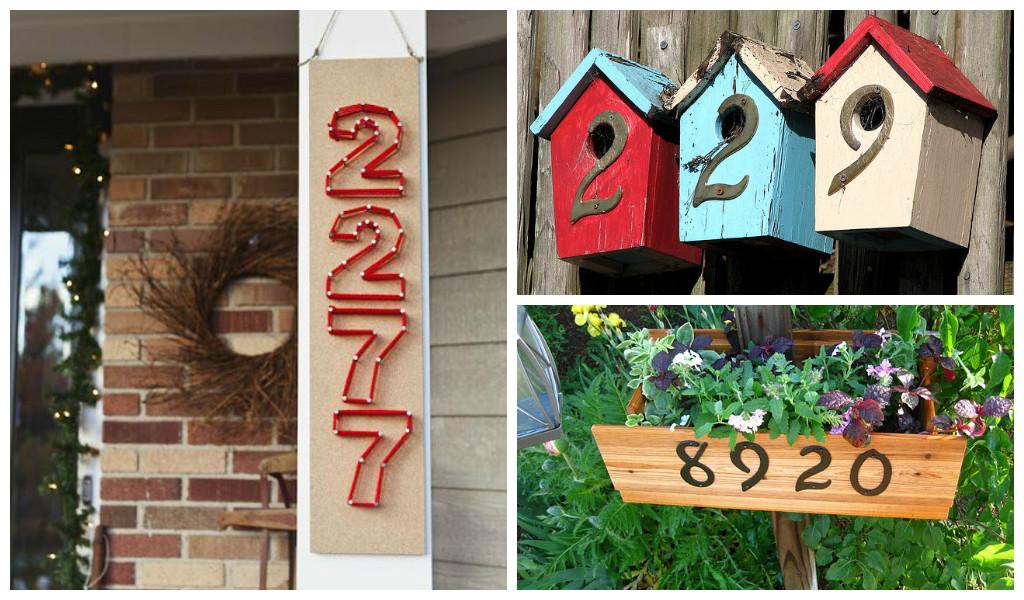 Creative house numbers