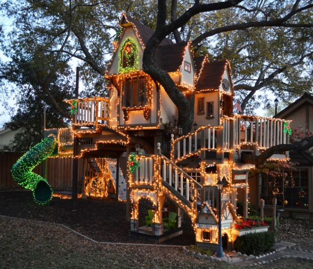 Stunning Tree House For Kids Decorated In The Spirit Of