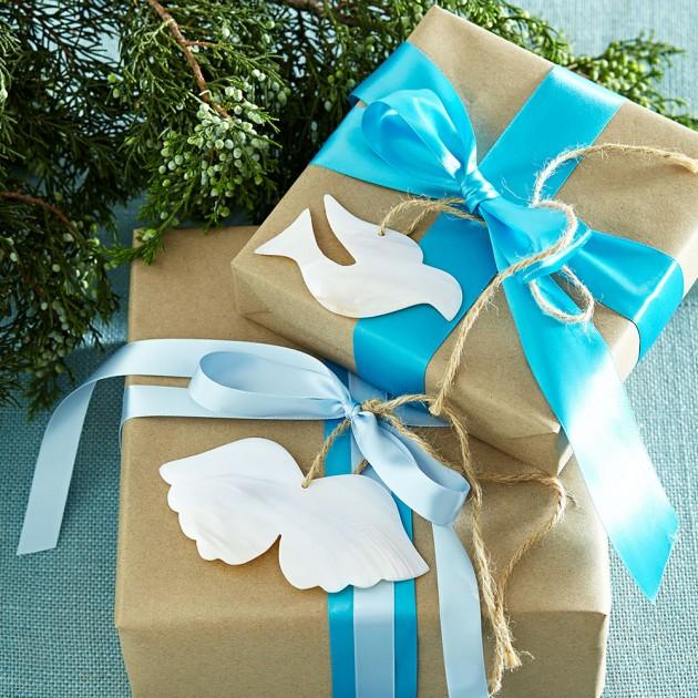 Coastal Christmas White and Blue Interior Design