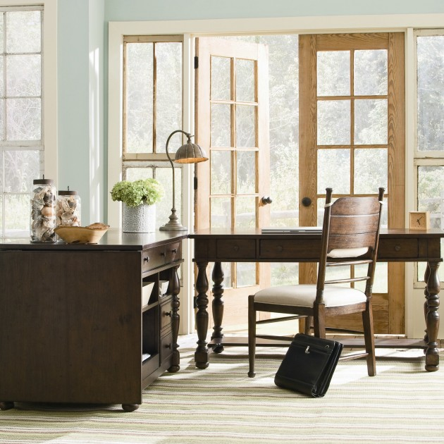 paula deen home down home office suite in distressed molasses finish