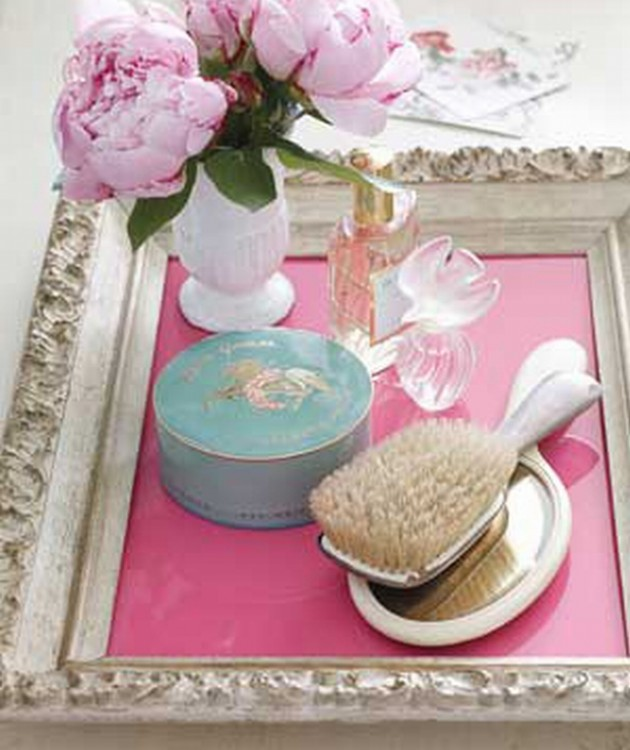 26 Creative DIY Ideas For Repurposing Old Trays For Better Home Organization