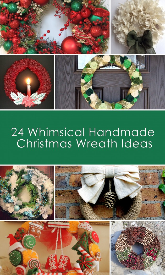 24 whimsical handmade christmas wreath ideas