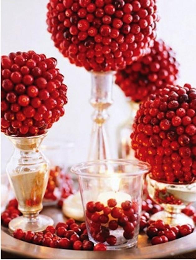 28 Brilliant DIY Cranberries Décor Ideas
