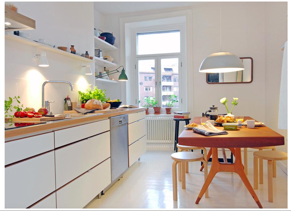 Amazing 30 Inspiring White Scandinavian Kitchen Designs Part 12