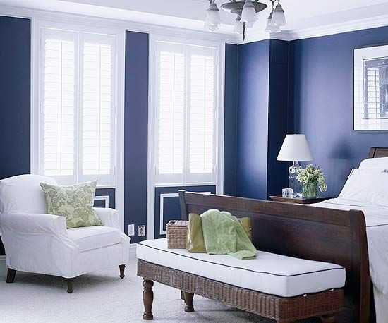 20 marvelous navy blue bedroom ideas for Blue and white master bedroom ideas