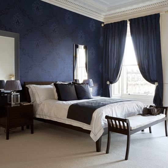 20 marvelous navy blue bedroom ideas. Black Bedroom Furniture Sets. Home Design Ideas