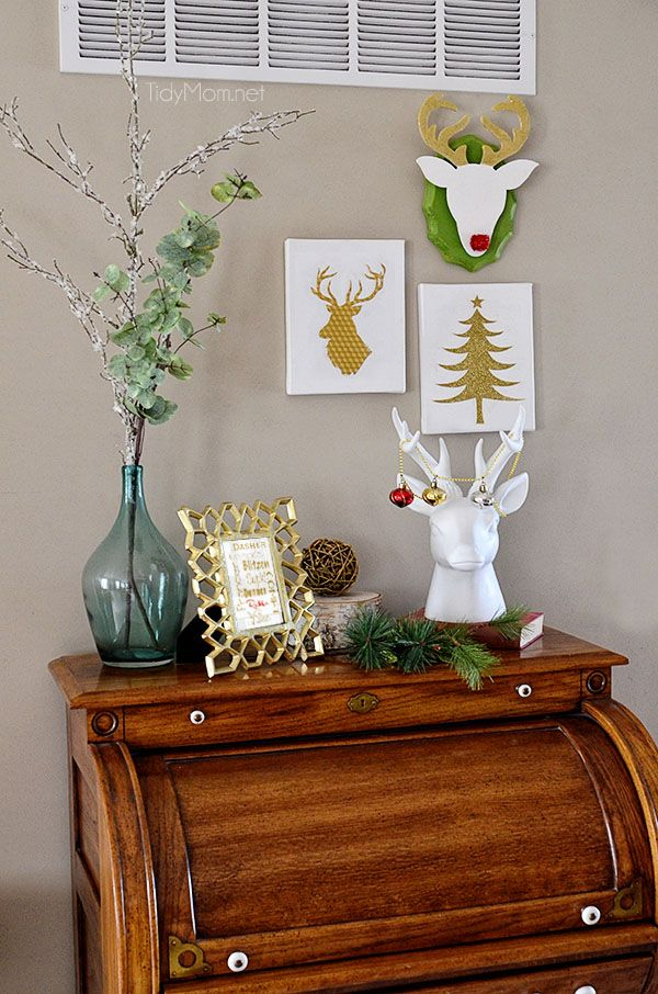 30 amazing diy christmas wall art ideas - Wall hanging ideas for bedrooms ...