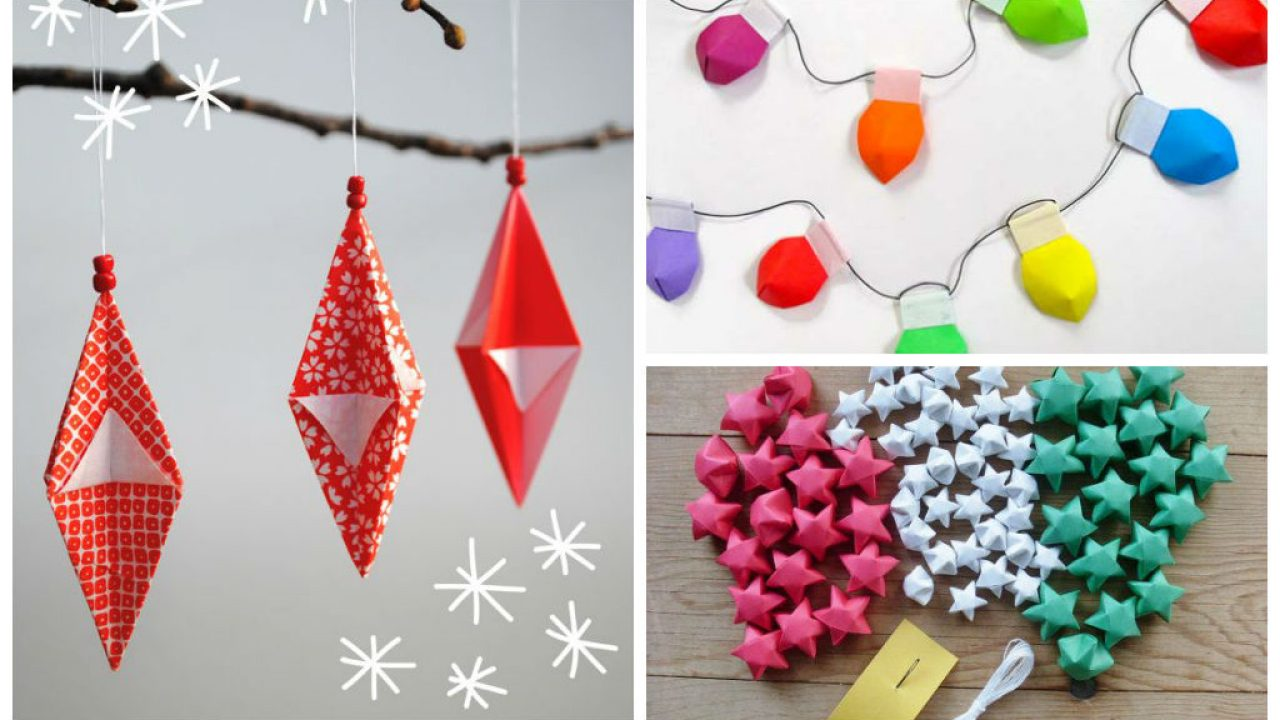 Christmas Origami.30 Fun And Creative Diy Christmas Origami